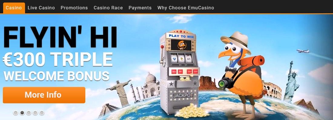 EMU casino screenshot 1